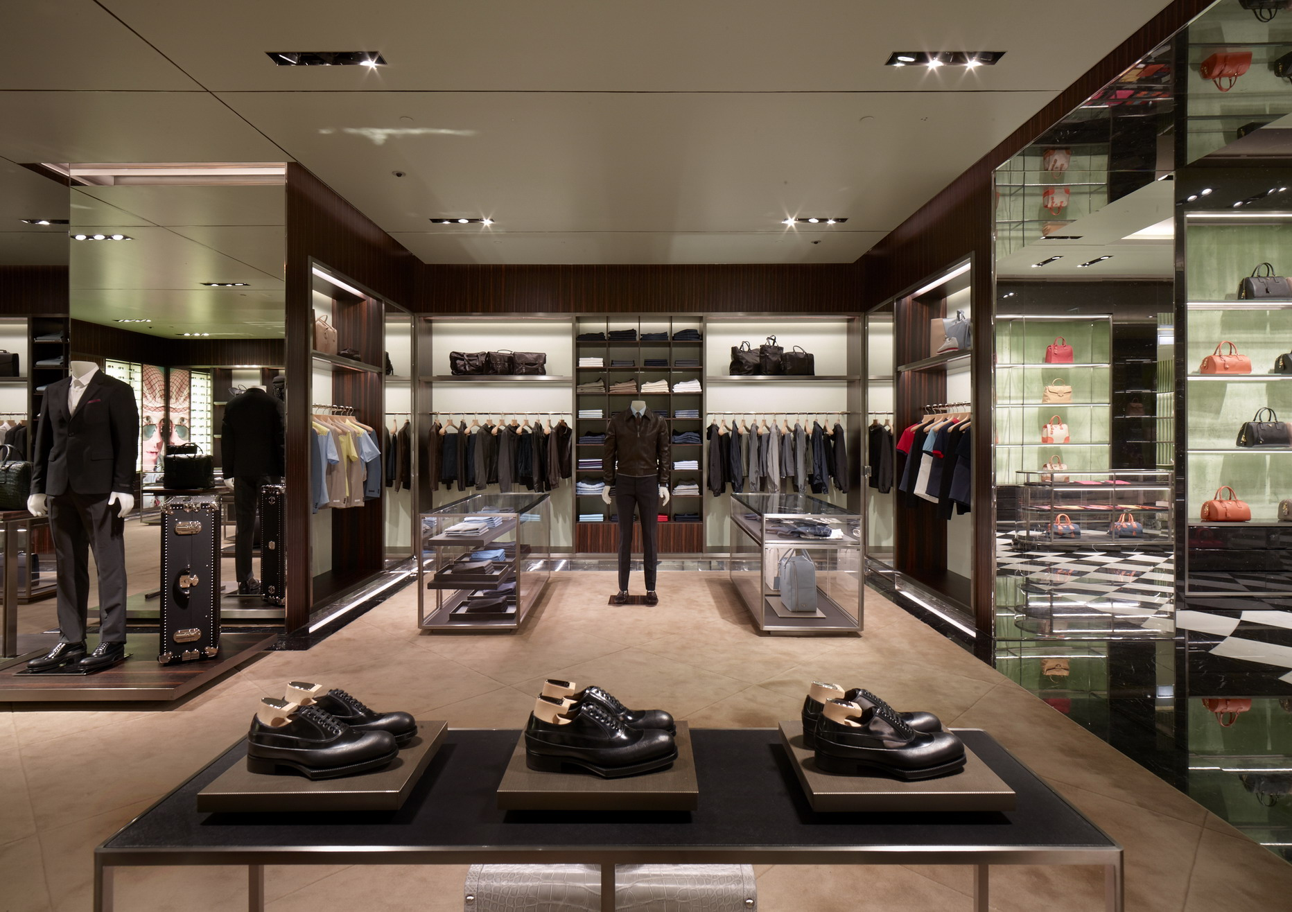 Nuovo store prada a dubai luuk magazine - Men s clothing store interior design ideas ...