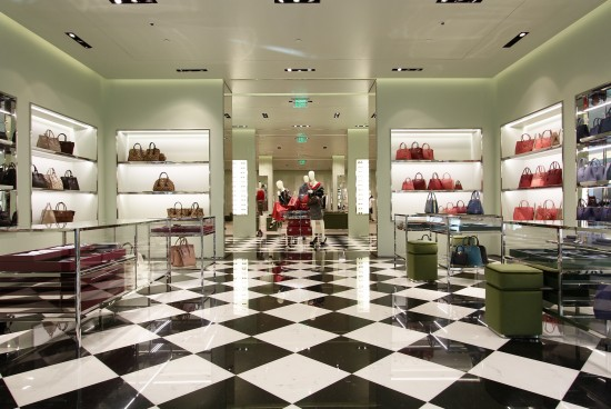 PRADA Boutique Interiors and Exteriors at The Millennia Mall-pradaorlandooct2