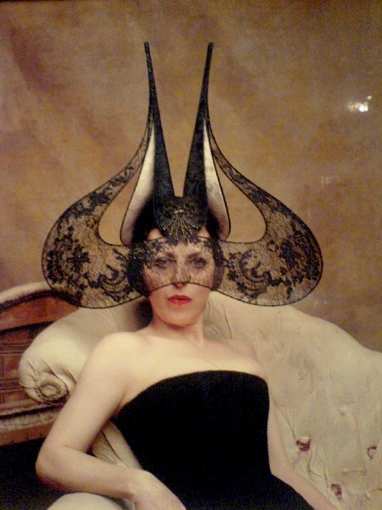 Isabella Blow-pointy lace hat