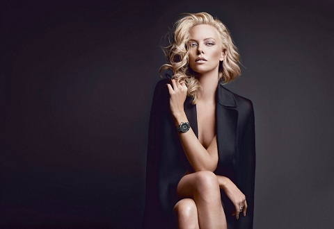 Charlize Theron wears a Dior watch
