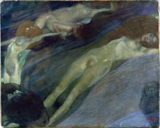 Gustav Klimt Acqua in movimento 1898 Olio su tela, cm 52 x 65 Collezione privata (courtesy Galerie St. Etienne, New York) © Galerie St. Etienne, New York