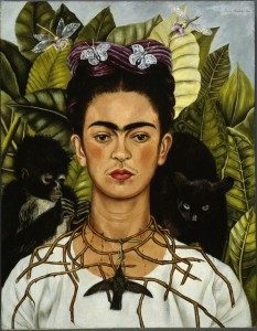 Frida Kahlo Autoritratto con collana di spine, 1940 Olio su tela, cm 63,5 x 49,5 Harry Ransom Center, Austin © Banco de México Diego Rivera & Frida Kahlo Museums Trust, México D.F. by SIAE 2014