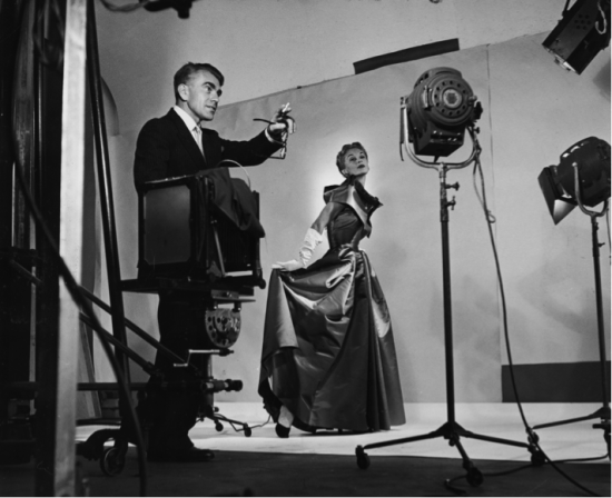 Horst directing fashion shoot with Lisa Fonssagrives Date: 1949 Credit line: Photo by Roy Stevens /Time & Life Pictures / Getty Images
