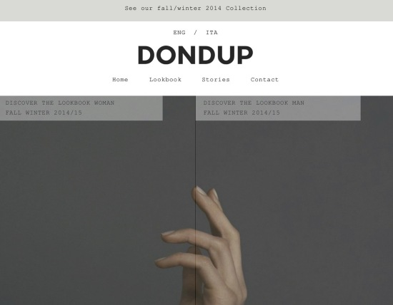 DONDUP.COM Screenshot Homepage HiRes
