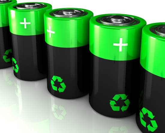 fine 3d image of eco battery