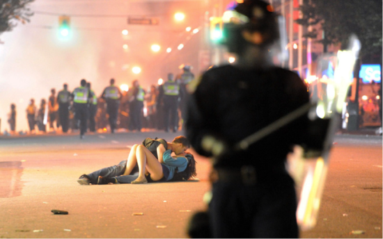 Vancouver Riot Kiss, Vancouver Canada, 2011 © Richard Lam
