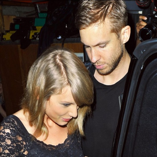 Taylor Swift and rumored boyfriend Calvin Harris spotted holding hands after a show at Troubadour Club in West Hollywood, CA.