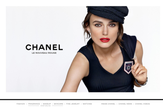 The Chanel.com homepage.
