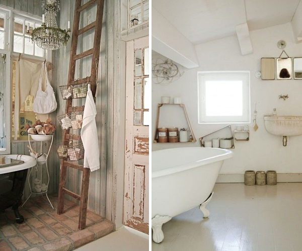 Arredare in stile shabby chic luuk magazine for Accessori bagno vintage