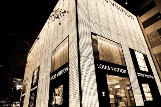 Boutique Louis Vuitton a Shanghai.