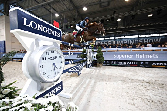 Jumping Verona - class 14 Longines Fei World Cup Jumping - Premio Fixdesign Simon Delestre on Hermes Ryan Verona,8th nov.2015 ph.Stefano Grasso/Fieracavalli