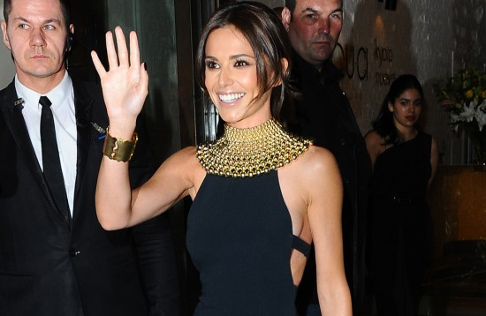 Cheryl Fernandez-Versini seen arriving at her Storm Flower Noir fragrance launch at Aqua this evening.