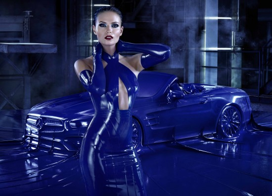 Mercedes-Benz Fashion campaign Autumn/Winter 2016 featuring Natasha Poly (model), Atsuko Kudo (designer) and Jeff Bark (photographer)