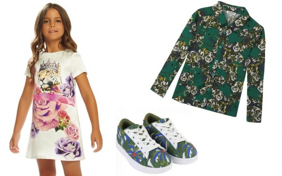 Da sinistra Roberto Cavalli Junior, Little Marc Jacobs e Kenzo Kids