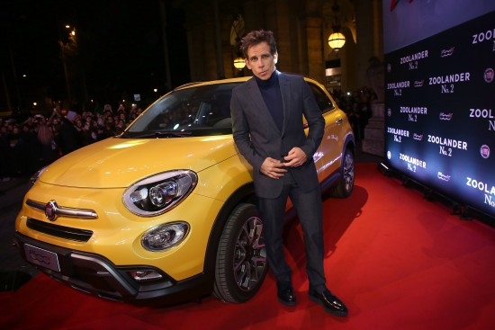 Fiat 500X At Zoolander No.2 Fan Screening In Rome