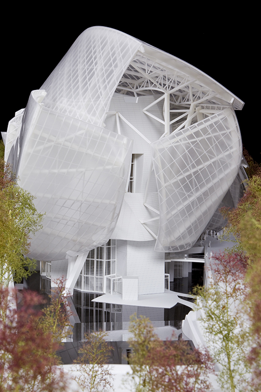 Maquette della Fondation Louis Vuitton