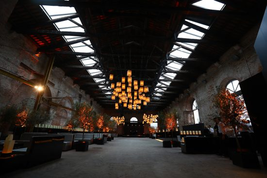 La location dell'Arsenale dove è stato ospitato il dinner party