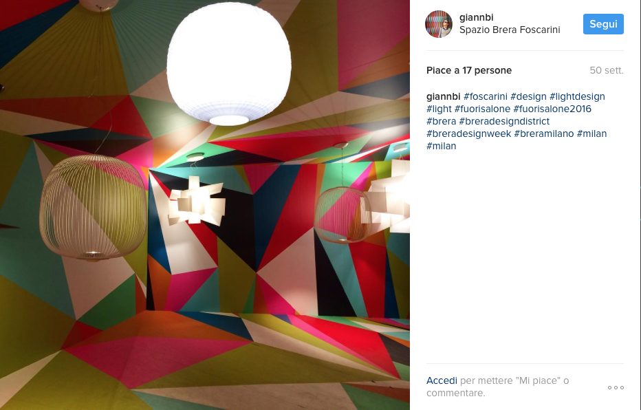 La milano design week 2017 vista da instagram luuk magazine for Studiare design a milano